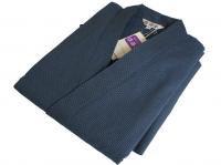 刺し子風 作務衣(さむえ) 紺 綿100% 男性用