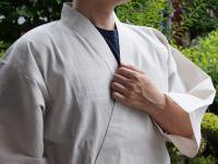 纏(まとい)織り作務衣 白色系 男性用
