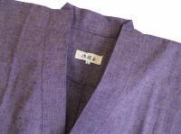 作務衣(さむえ)久留米織 薄紫  綿100% 女性用