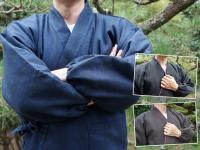 冬用 纏織り作務衣(中綿入り) 男性用