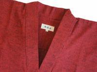 作務衣(さむえ)久留米織 エンジ 綿100%  女性用