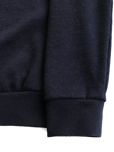 【niuhans women's】WOOL COTTON SWEAT SHIRT (NAVY)_2
