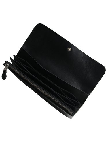 【STANDARD SUPPLY】PAL / LONG FLAP WALLET (BLACK)_2