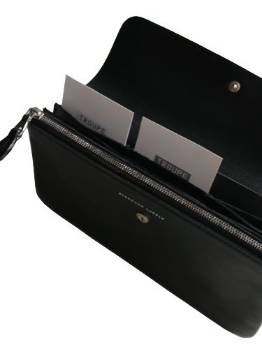 【STANDARD SUPPLY】PAL / LONG FLAP WALLET (BLACK)_3