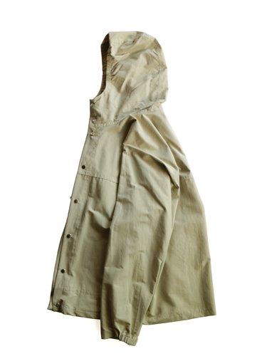 【YAECA men's】60/40 CLOTH HOOD SHIRT LONG (BEIGE)_2