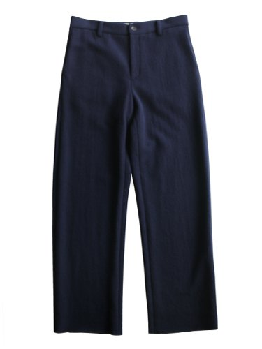 【niuhans】MELTON WOOL WIDE PANTS (NAVY)_main