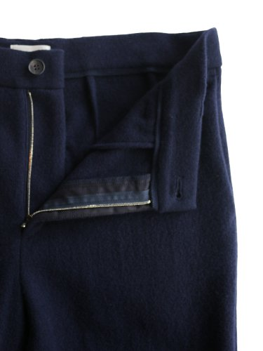 【niuhans】MELTON WOOL WIDE PANTS (NAVY)_1