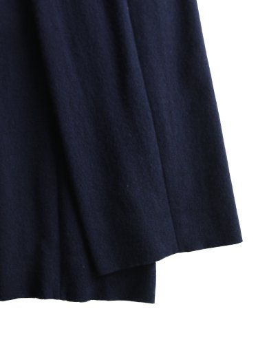 【niuhans】MELTON WOOL WIDE PANTS (NAVY)_2