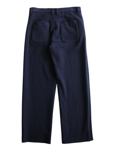 【niuhans】MELTON WOOL WIDE PANTS (NAVY)_3