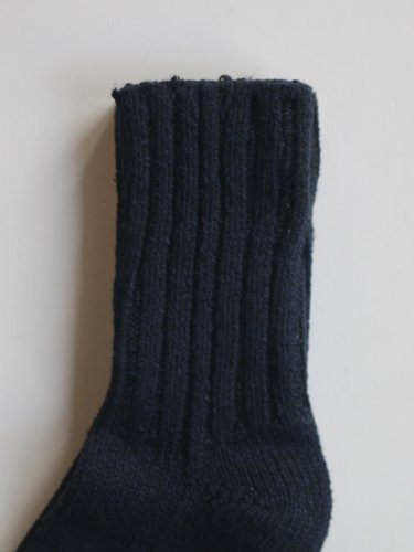 【YAECA unisex】COTTON SILK SOCKS (D.NAVY)_2
