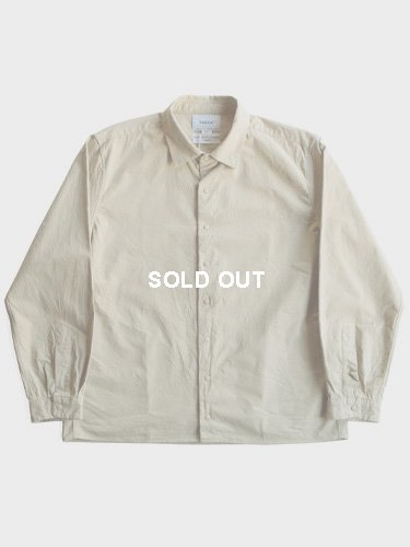 【YAECA men's】COMFORT SHIRT - RELAX SQUARE (BEIGE)_main