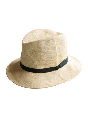 【KIJIMA TAKAYUKI】PAPER CLOTH HAT - MIDDLE BRIM (BEIGE) _main