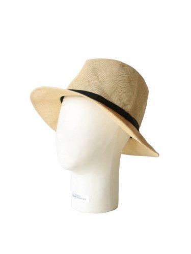 【KIJIMA TAKAYUKI】PAPER CLOTH HAT - MIDDLE BRIM (BEIGE) _2