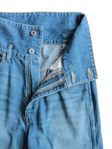 【Graphpaper women's】TURNOVER WAISTED DENIM PANTS BL (BLEACH)_1