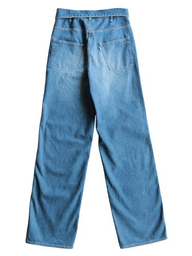 【Graphpaper women's】TURNOVER WAISTED DENIM PANTS BL (BLEACH)_2