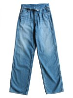 【Graphpaper women's】TURNOVER WAISTED DENIM PANTS BL (BLEACH)
