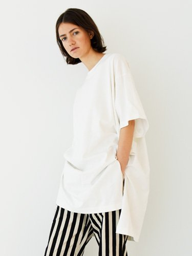【unifil women's】DRY TOUCH COTTON JERSEY OVERSIZED TEE (WHITE)_3