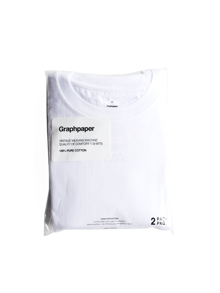 【Graphpaper men's】ORIGINAL 2-PACK CREW NECK TEE (WHITE)_main