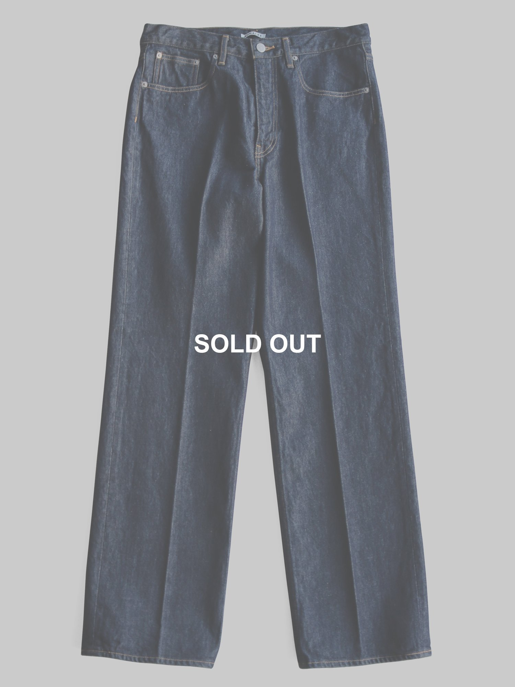 【AURALEE men's】HARD TWIST DENIM 5P PANTS (INDIGO)_main