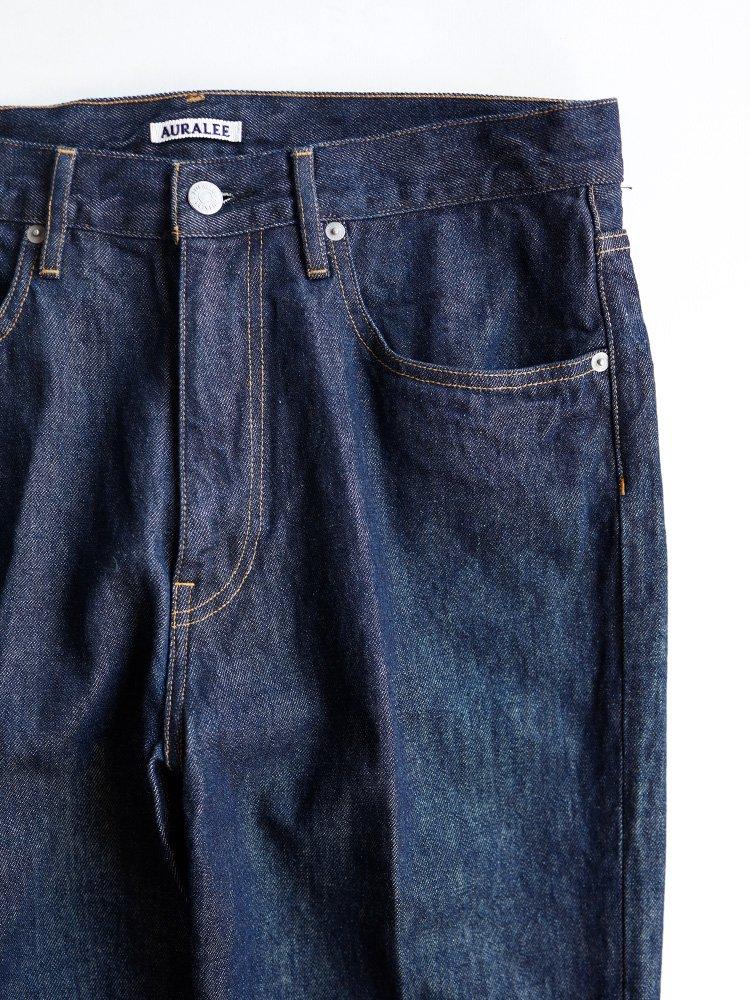 【AURALEE men's】HARD TWIST DENIM 5P PANTS (INDIGO)_1