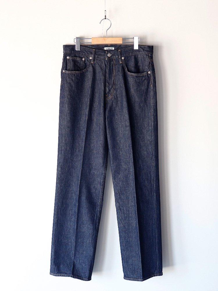 【AURALEE men's】HARD TWIST DENIM 5P PANTS (INDIGO)_2