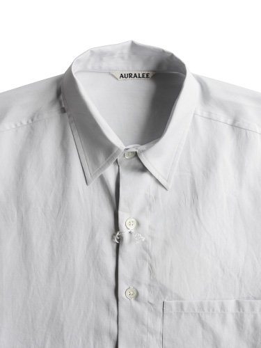 【AURALEE men's】WASHED FINX TWILL BIG SHIRTS (LIGHT BLUE)_1