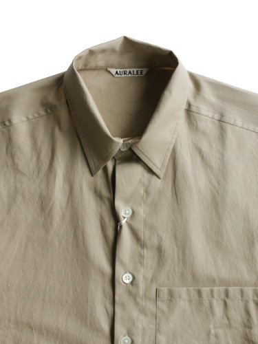 【AURALEE men's】WASHED FINX TWILL BIG SHIRTS (GRAY BEIGE)_1