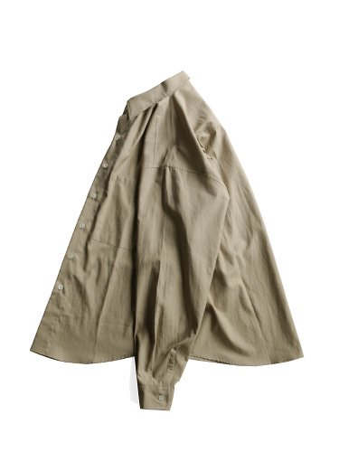 【AURALEE men's】WASHED FINX TWILL BIG SHIRTS (GRAY BEIGE)_2