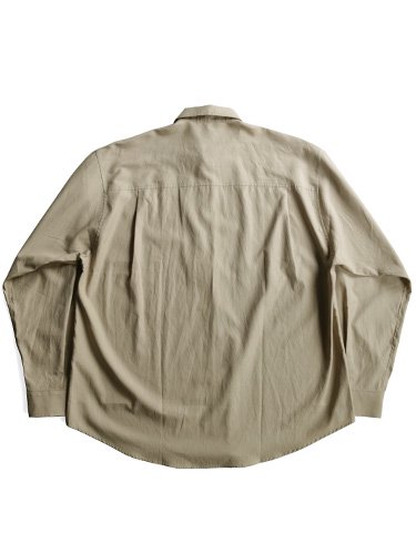 【AURALEE men's】WASHED FINX TWILL BIG SHIRTS (GRAY BEIGE)_3