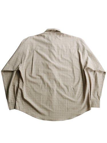 【AURALEE men's】WASHED FINX TWILL BIG SHIRTS (TATTERSALL CHECK)_3