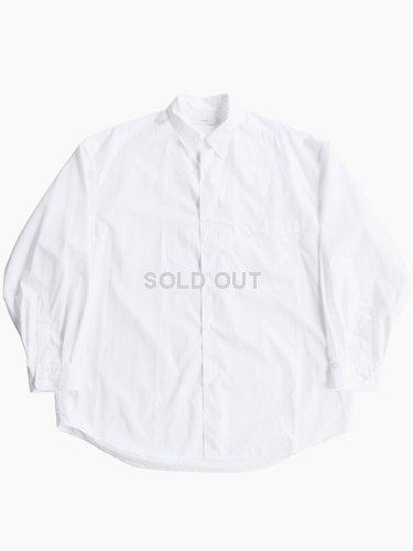 【Graphpaper men's】BROAD REGULAR COLLAR OVERSIZED SHIRT (WHITE)_main