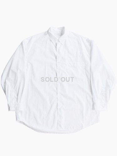 【Graphpaper men's】BROAD REGULAR COLLAR OVERSIZED SHIRT (WHITE)_main