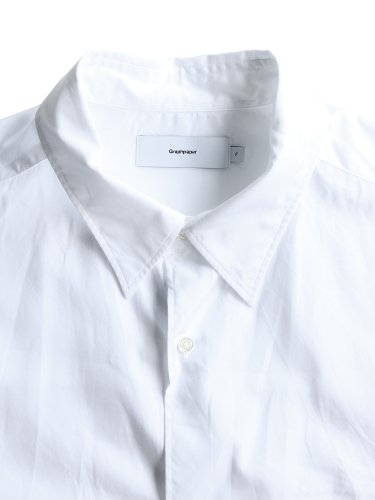 【Graphpaper men's】BROAD REGULAR COLLAR OVERSIZED SHIRT (WHITE)_1