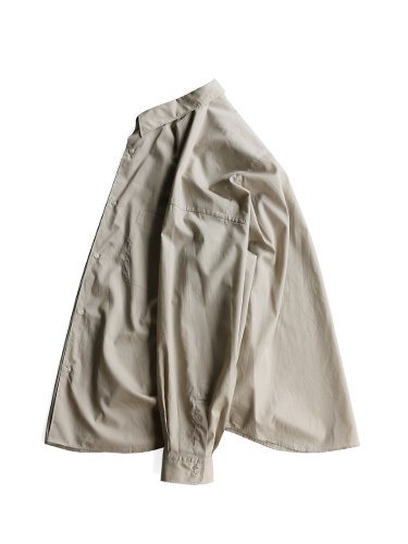 【Graphpaper men's】BROAD REGULAR COLLAR OVERSIZED SHIRT (BEIGE)_2