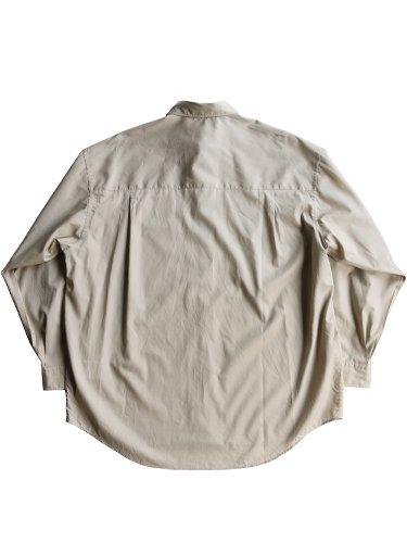 【Graphpaper men's】BROAD REGULAR COLLAR OVERSIZED SHIRT (BEIGE)_3