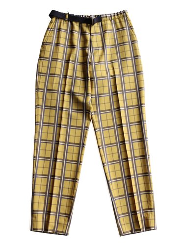 【WELLDER】BELTED TROUSERS (MUSTARD)_main