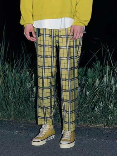 【WELLDER】BELTED TROUSERS (MUSTARD)_3