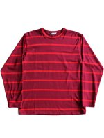 【WELLDER】REGULAR FIT LONG SLEEVE T-SHIRT (WINE×RED LINE)