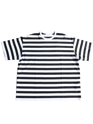 【Graphpaper men's】BORDER S/S TEE (WHITE×BLACK)_main
