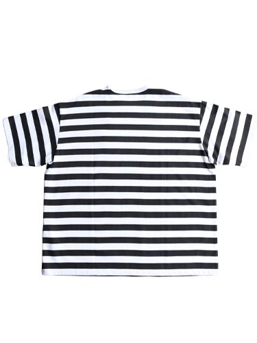 【Graphpaper men's】BORDER S/S TEE (WHITE×BLACK)_3