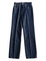 【AURALEE women's】HARD TWIST DENIM 5P PANTS (INDIGO)