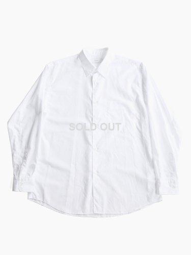 【Graphpaper men's】BROAD REGULAR COLLAR SHIRT (WHITE)_main