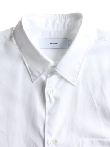 【Graphpaper men's】BROAD REGULAR COLLAR SHIRT (WHITE)_1