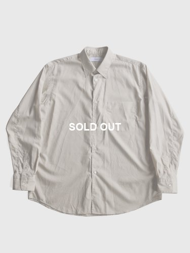 【Graphpaper men's】BROAD REGULAR COLLAR SHIRT (BEIGE)_main
