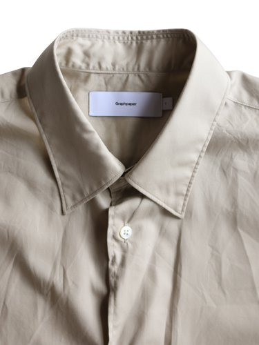 【Graphpaper men's】BROAD REGULAR COLLAR SHIRT (BEIGE)_1