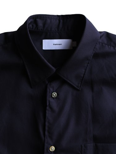 【Graphpaper men's】BROAD REGULAR COLLAR SHIRT (NAVY)_1