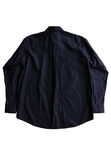 【Graphpaper men's】BROAD REGULAR COLLAR SHIRT (NAVY)_3