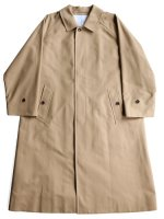 【Graphpaper unisex】DOUBLE CLOTH PEACH SOUTIEN COLLAR COAT (BEIGE)