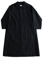 【Graphpaper unisex】DOUBLE CLOTH PEACH SOUTIEN COLLAR COAT (NAVY)