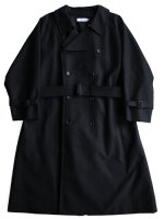 【Graphpaper unisex】DOUBLE CLOTH PEACH TRENCH COAT (NAVY)